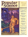 Front Cover of Popular Science Magazine: February 1, 1930 Art