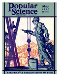 Front Cover of Popular Science Magazine: May 1, 1927 Giclee Print