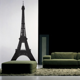 The Eiffel Tower-Medium-Black Kalkomania ścienna
