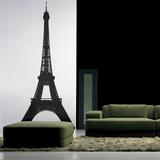 The Eiffel Tower-Medium-Black Muursticker
