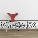 The Railing-Medium-Black Wall Decal