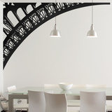 The Arc of the Eiffel Tower-Left-Medium-Black Wall Decal