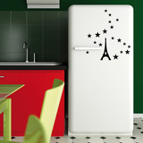 Eiffel Tower Stars-Medium-Black Wall Decal