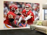 Chiefs Redskins Football: Landover, MD - Matt Cassel and Jamaal Charles Wall Mural – Large by Alex Brandon