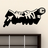 We Art I-Medium-Black Wall Decal