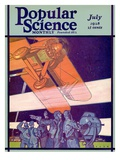 Front Cover of Popular Science Magazine: July 1, 1928 Poster