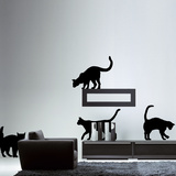 The Cats-Medium-Black Autocollant mural