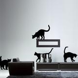 The Cats-Medium-Black Muursticker