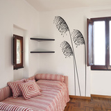 Large Feathers-Medium-Black Autocollant mural