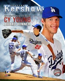 Clayton Kershaw 2011 NL Cy Young Winner Portrait Plus Photo