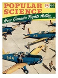 Front cover of Popular Science Magazine: January 1, 1940 Art