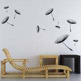 Black Dandelion Wall Decal