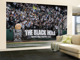 Redskins Raiders Football: Oakland, CA - The Black Hole Veggmaleri – stort av Marcio Jose Sanchez