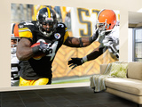 Browns Steelers Football: Pittsburgh, PA - Rashard Mendenhall Wall Mural – Large by Tom E. Puskar