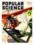 Front Cover of Popular Science Magazine: April 1, 1930 Art