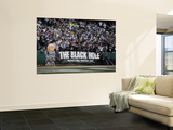 Redskins Raiders Football: Oakland, CA - The Black Hole Wall Mural by Marcio Jose Sanchez