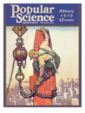 Front Cover of Popular Science Magazine: February 1, 1929 Giclee Print