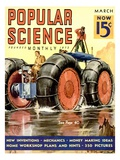 Front Cover of Popular Science Magazine: March 1, 1930 Giclee Print