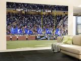 Redskins Lions Football: Detroit, MI - Lions Flags Veggmaleri – stort av Carlos Osorio
