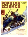 Front cover of Popular Science Magazine: December 1, 1900 Poster