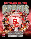 USC Trojans All Time Greats Composite Photographie