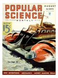 Front cover of Popular Science Magazine: August 1, 1930 Poster