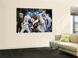 Titans Patriots Football: Foxborough, MA - Titans defense Wall Mural by Winslow Townson