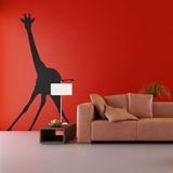 The Giraffe-Medium-Black Wall Decal