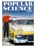 Front cover of Popular Science Magazine: October 1, 1957 Giclee Print