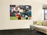 Redskins Raiders Football: Oakland, CA - Santana Moss Wall Mural by Marcio Jose Sanchez