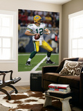 Packers Rams Football: St. Louis, MO - Aaron Rodgers Wall Mural by Jeff Roberson