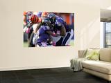 Bengals Ravens Football: Baltimore, MD - Ray Lewis Veggmaleri av Nick Wass