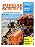 Front cover of Popular Science Magazine: August 1, 1950 Poster