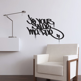 I Salute You my Street Tag-Medium-Black Wall Decal