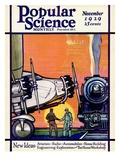 Front cover of Popular Science Magazine: November 1, 1929 Giclee Print