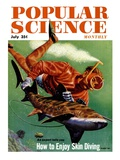 Front Cover of Popular Science Magazine: July 1, 1950 Giclee Print
