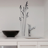 Short Wild Grass-Small-Black Autocollant mural