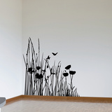 Corner of the Meadow-Medium-Black Autocollant mural