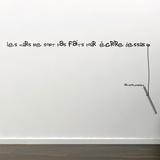 Les murs ne sont pas faits pour écrire dessus - Hilton McConnico - Medium - Noir Adhésif mural