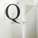 Q by HMC-Black Muursticker