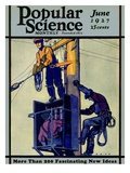 Front Cover of Popular Science Magazine: June 1, 1927 Print
