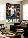 Britain Patriots Buccaneers Football: London,  - Tom Brady Wall Mural by Stephan Savoia