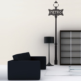 Paris Metro Sign-Unicolor-Medium Wall Decal