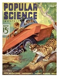 Front cover of Popular Science Magazine: July 1, 1930 Giclee Print