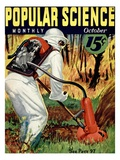 Front cover of Popular Science Magazine: October 1, 1930 Art