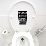 Rules-Black Wall Decal