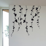 Vine Branches-Medium-Black Autocollant mural