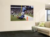 Bears Lions Football: Detroit, MI - Calvin Johnson Veggmaleri av Paul Sancya