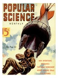 Front cover of Popular Science Magazine: August 1, 1930 Psters