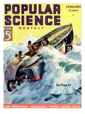 Front Cover of Popular Science Magazine: January 1, 1930 Psters